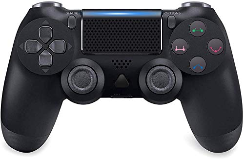 Wireless Controller for PS4, Modded PS4 Controller Dualshock 4 Wireless PS4 Pro Controller Built-in Speaker/Gyro/Motors with Touch Panel Share Button LED Indicator USB Cable for PS4/Pro/Slim (Black)