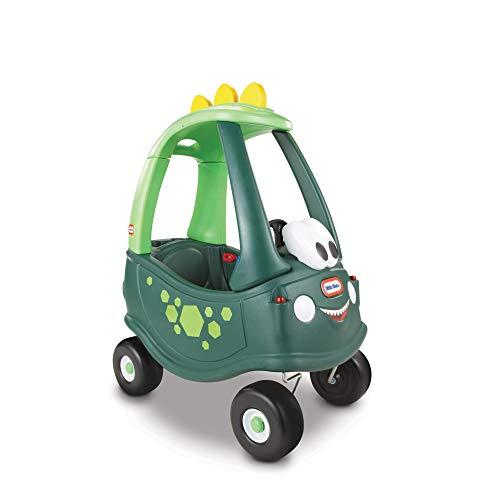Little Tikes Auto Cozy Coupe Dinosaurio - Para Montarse, con Bocina que Funciona, Interruptor de Encendido y Tapa de Combustible