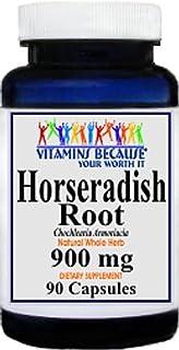 Horseradish Root 900mg Natural Whole Herb Capsules - Inflammation, Infection, Respiratory