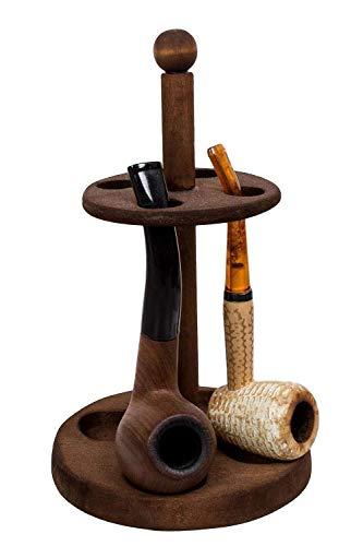 Pfeifenständer edel/Pfeifenhalter aus Holz/Pfeifenaufbewahrung für echte Kavaliere