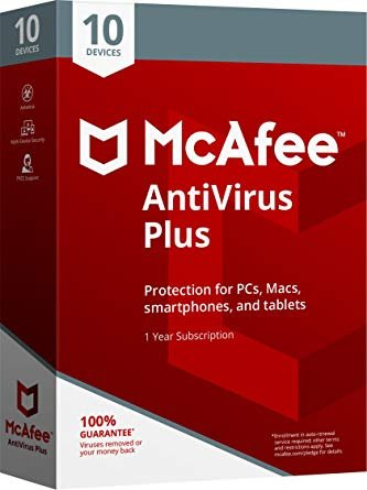 Mcafee 2018 Antivirus Plus - 10 Devices, Delivery on same day via Amazon Message - Download software link and Activation key -
