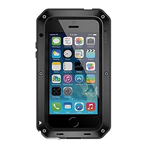 Lunatik TT5H-001 - Carcasa de protección extrema para iPhone 5 (con lámina de cristal Gorilla para pantalla), color negro y rojo