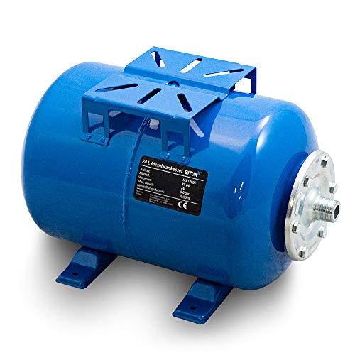 BITUXX® Stahl Membrankessel 24L Druckkessel Hauswasserwerk Kessel inkl Membran 1 Zoll Anschluss max. Druck 6 Bar
