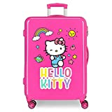 Maleta Mediana HELLO KITTY You Are Cute rígida 68cm Fucsia