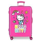 Hello Kitty You are Cute Valigia media Rosa 48x68x26 cms Rigida ABS Chiusura a combinazione numerica 70L 3,7Kgs 4 doppie ruote