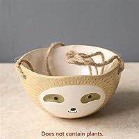 壁掛けセラミック花瓶ナマケモノ植木鉢ホームガーデン装飾 完璧な贈り物 (Color : A2)