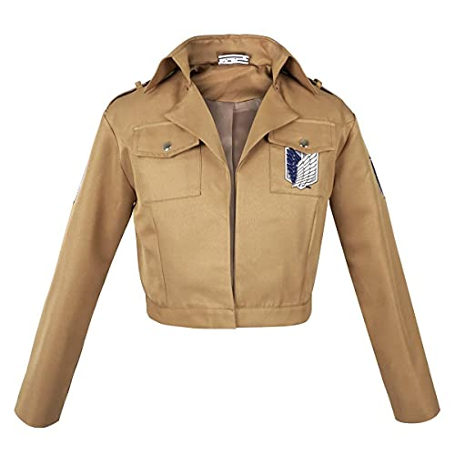 Chaqueta de uniforme del Cuerpo de Exploración de los fans de Ataque a los Titanes   Talla: XL