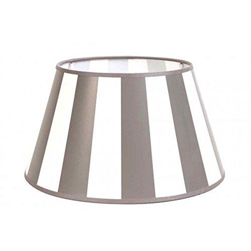 Lampenschirm für Tischleuchte in Rund Streifen Taupe TL 25-18-14