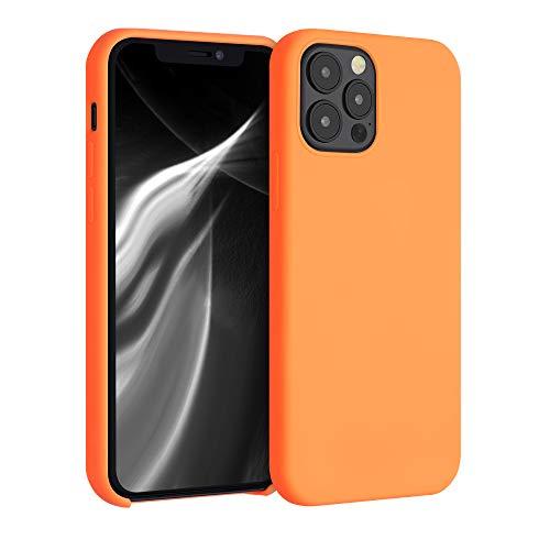 kwmobile Hülle kompatibel mit Apple iPhone 12/12 Pro - Handyhülle gummiert - Handy Hülle in Cosmic Orange