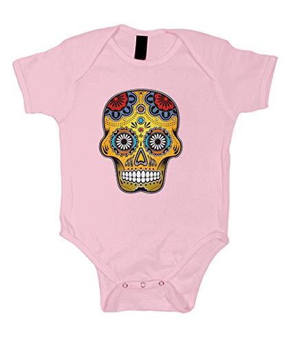 latostadora - Body Mexico Color Skull para Bebe Rosa Claro XL