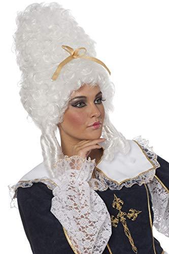 Jannes Perücke Marie Antoinette Weiß toupiert Rokoko-Kostüm Damen Damenperücke