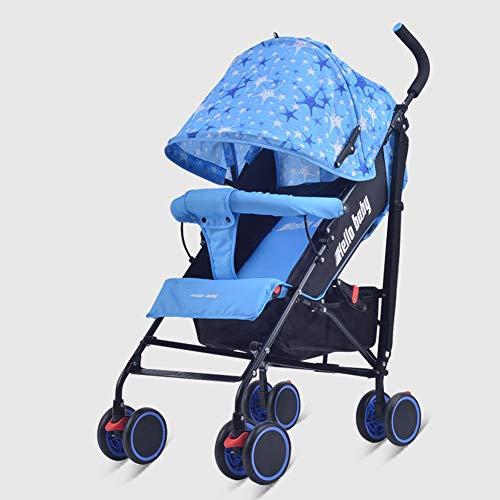 Kinderwagen, ligstoel, opvouwbaar, opvouwbaar, voor kinderen van 0 tot 36 maanden. Blauw