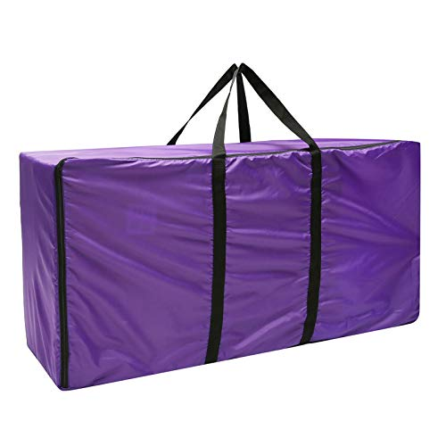 ESSORT Hay Bale Storage Bag, 420D Large Tote Hay Bale Carry Bag, Foldable Portable Horse and Livestock Hay Bale Bags with Zipper Waterproof, Also Fits for Christmas Tree Storage(45x14x23)