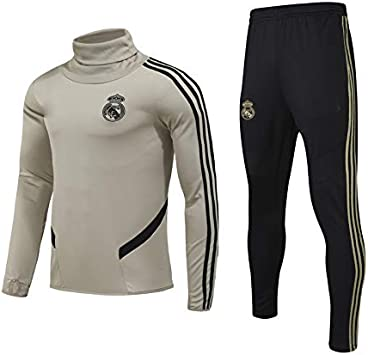 Pantalons Former Costume Costume Costume de Sport pour Hommes 2 pi/èces QJY Jersey de Football Jersey Jersey Real Madrid Club Team Uniforme Manches Longues