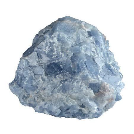 Calcita azul bruta de Sri Lanka de 50 mm piedra bruta de litoterapia y de colección