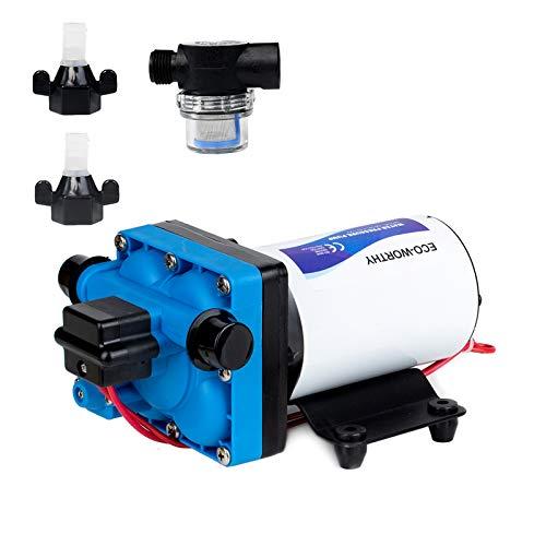 DC HOUSE 42-Series Upgrade Water Diaphragm Pressure Pump, 5.0 GPM 55 PSI 12V DC Self Priming Water Pump for RV Caravan Marine Yacht