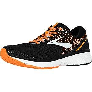 Brooks Mens Ghost 11 Running Shoe - Black/Silver/Orange - D - 9.0