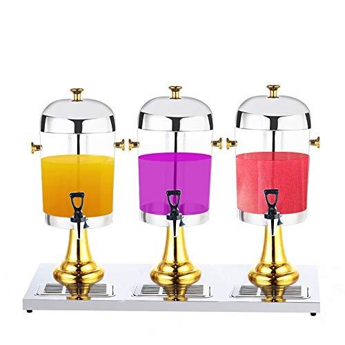 Yamyannie-Home Gewerbe-Getränkezufuhr-Getränk-Zufuhr-Saft-Getränk-Zufuhr Kühle Maschine Cocktail Grillparty (DREI-Hahn, Größe: 24L) (Farbe : Gold, Größe : 87x35x58cm)