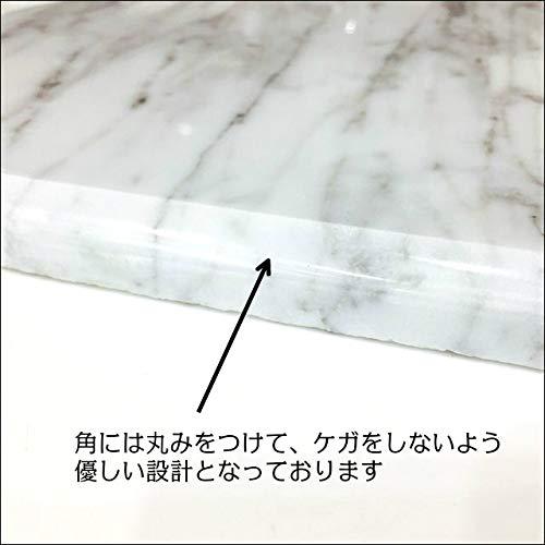 長方形クールマット白ペットひんやりマット石製大理石縦300横450厚さ15mm
