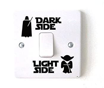 Star Wars Dark Light Side Switch Vinyl Decal Sticker Child Room Lightswitch Wall  2