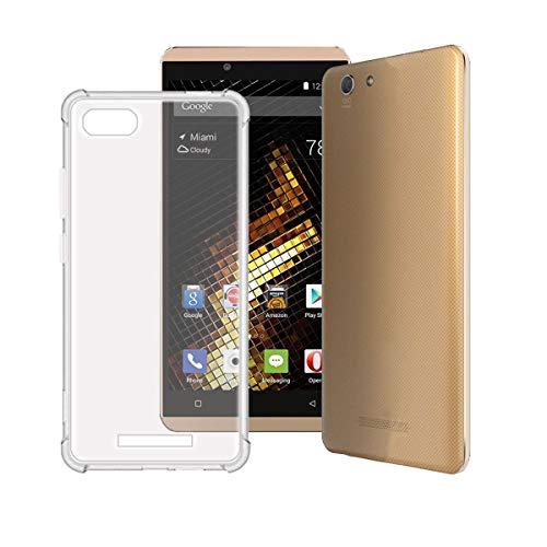 YZKJ Hülle für BLU Vivo XL Cover,Weiche Handytasche Transparent TPU Handyhülle Silikon Tasche Schale Hülle Schutzhülle für BLU Vivo XL (5.5