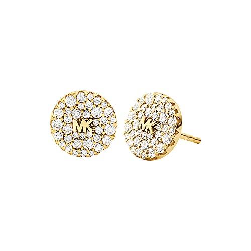 Michael Kors - Pendientes PREMIUM de plata de ley en tono dorado con para mujer MKC1496AN710