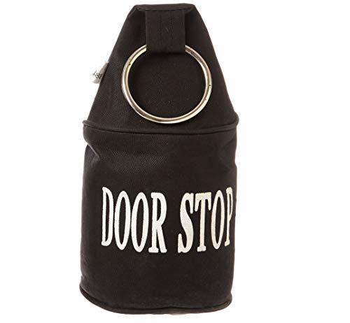 Esschert Design Türstopper, Türpuffer mit Ring, in schwarz oder grau, sortiert, 1 Stück, ca. 14 cm x 14 cm x 34 cm