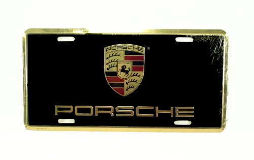 Genuine Porsche Crest License Plate
