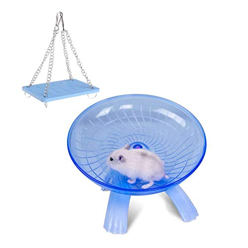 Tfwadmx Small Animal Swing Toys, Hamster Exercise Wheel for Syrian Hamster Rat Gerbil Guinea Pig Chipmunk Mouse Hedgehog