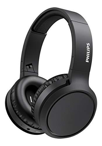 Philips H5205BK/00 Auriculares Inalámbricos Bluetooth, Auriculares Supraaurales (Micrófono, Botón Refuerzo Graves, 29 Horas Reproducción, Carga Rápida, Aislamiento Sonido) Negro - Modelo 2020/2021