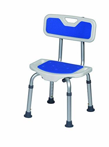 Herdegen - Gepolsterter Dusch-Stuhl mit Lehne, Hocker für die Dusche oder Badewanne, Duschsitz für Senioren oder Kinder, Komfortabler gepolsterter Sitz mit Lehne