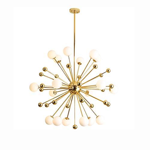 18 Luces Lámpara De Araña,Oro Sputnik Chandelier,Lámpara De Techo Accesorio Para Salón Comedor Dormitorio Cocina Restaurante,Con Base Ajustable-Dorado 18 Luces