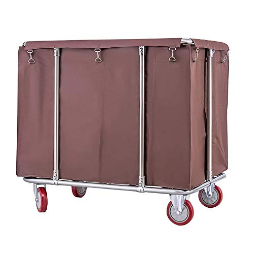 LJWJ Carts,Storage Car Service Car Utility Vehicle Multifunction Portable Trolley Home Heavy Duty Hotel Rolling Laundry Sorter Storage Cart on Wheels, Commercial Housekeeping Service Cart with Remova