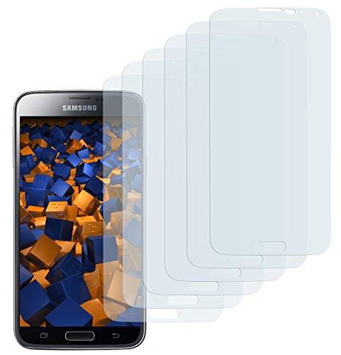 mumbi Schutzfolie kompatibel mit Samsung Galaxy S5 Folie, Galaxy S5 Neo Folie klar, Displayschutzfolie (6X)