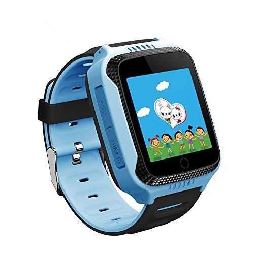 Q529 Reloj Inteligente con GPS Antipérdida - para Reloj De Bebé con Cámara para Teléfono Android Reloj Inteligente De Apple para Niños PK Q90 Q528,Azul
