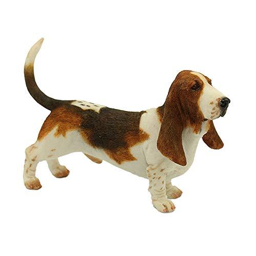 SY-Home Estatua De Perro De Decoración De Jardín, Simulación Buggy Hound Modelo Decoración De Coche Colección De Artesanías De Resina Decoración del Hogar H4in