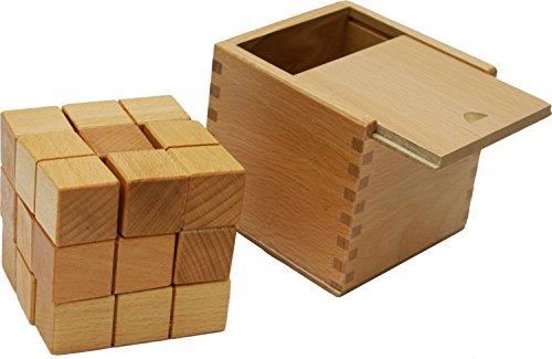 Toys of Wood Oxford TOWO Puzzle de Madera del Cubo de Soma - Juego de Habilidad de Madera Rompecabezas 3D - Juego de Habilidad Mental brainteasers Cubo para más de 6 años