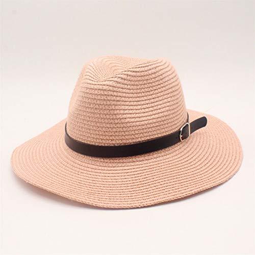 CHENGWJ Straw hoed mannen Zomer Straw Hoed Voor Vrouwen Grote Brede Rand Lint Zon Hoeden Dames Opvouwbare Panama Mannen Beach Hoed