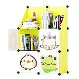Multifunción Biblioteca Económica Kinder de Librero de niños Simple Almacenamiento Locker Moderna Simple Inicio Estantes Combinación Librería Estantería para Libros (Color : A)