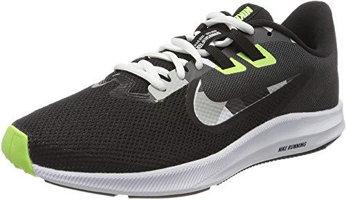 NIKE Herren Nike Downshifter 9 Schuh, Schwarz-Weiß-Partikel Grau-Dunkel Smoke Grey-ghost Grün-Saphir, 38.5 EU