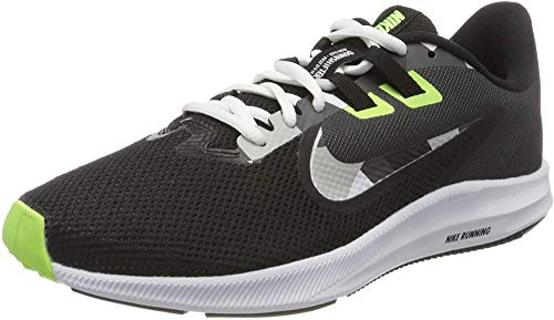 Nike Downshifter 9, Zapatillas para Correr Hombre, Negro (Black White Particle Grey Dk Smoke Grey Ghost Green Sapphire), 40 EU