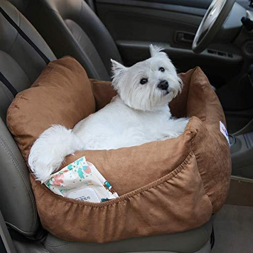 JUNQI Asiento elevador para perro, asiento de seguridad para perro, cama de coche, asiento de seguridad de lujo para cachorros, diseño científico, viaje seguro, suave y cómodo, fácil de limpiar.