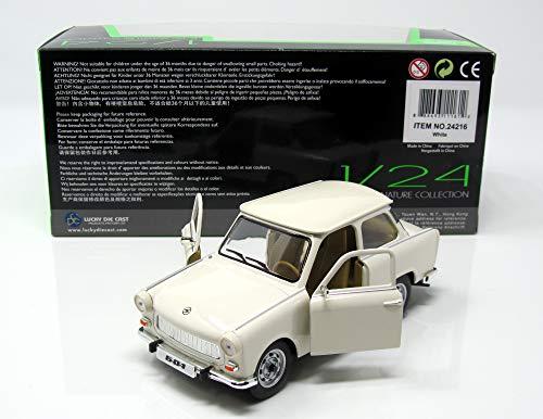 Trabant 601, weiss, Modellauto, Fertigmodell, Lucky Die Cast 1:24