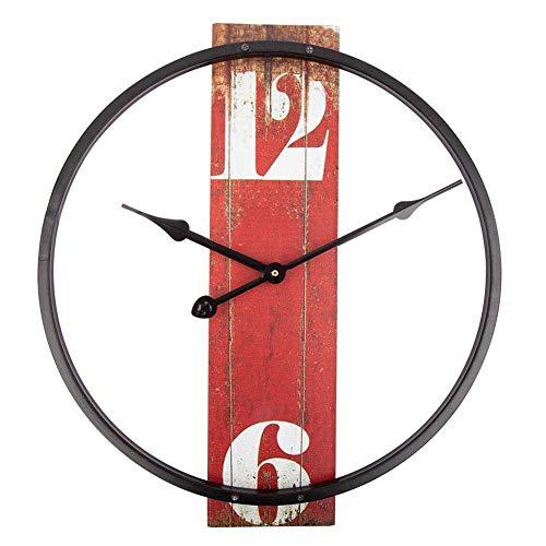 Metal Wall Clock, Klok met een eenvoudig ontwerp, Non-Tikkende Batterij gewaardeerd Klok for Slaapkamer Keuken Decor alarm clock (Color : B, Size : 16inch)