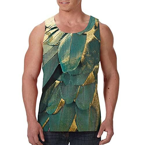 Camiseta sin mangas para hombre, camiseta de músculo, camiseta de Hawai