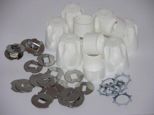 Tapas de seguridad para válvulas de radiador de ajuste universal, uso doméstico (paquete de 6).