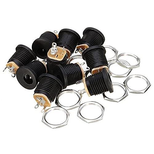 YEZIB Accesorios electrónicos de Bricolaje, DC-022 5.5-2.1mm Ronda Agujero del Tornillo Tuerca CC del zócalo de energía ROHS internos 50pcs diámetro de 5,5 mm