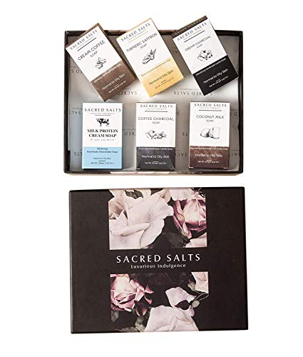 Glamorous Hub Sacred Salts Handmade Soaps with Specially Made Gift Box Organic & Natural Soft & Nourished Skin