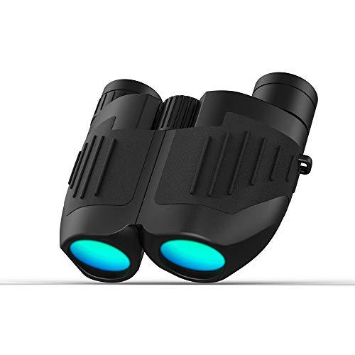 Lixada verrekijker 10 x 25 draagbaar nachtzichtapparaat met hoge lichtsterkte, krachtige vergroting, helder zicht verrekijker