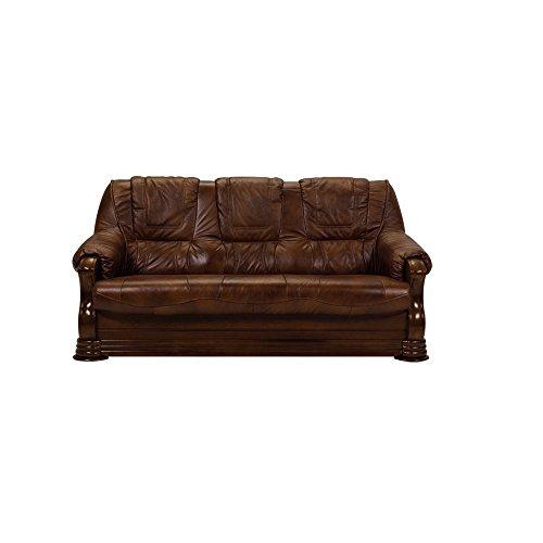 BMF Parma calidad 321sofá cama suite juego en piel sintética o tela–Elegance Line–cualquier color, 3 SEATER SOFA BED